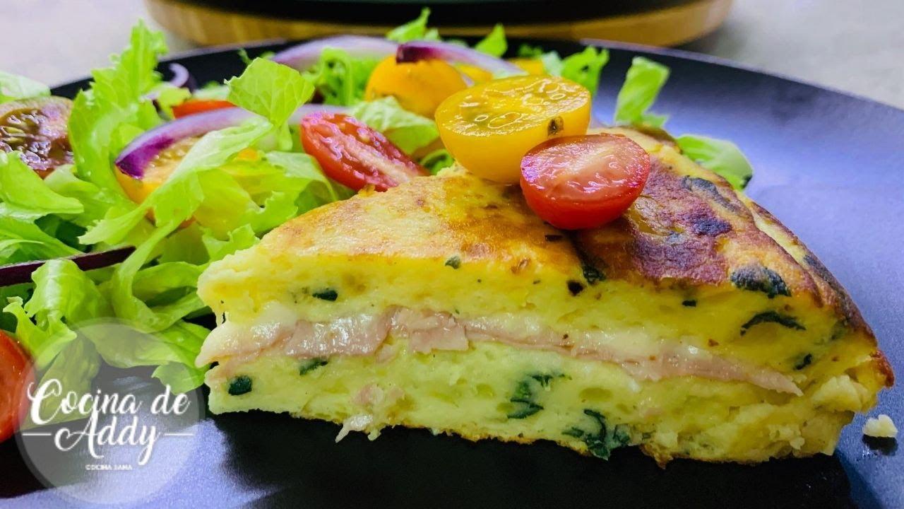 Solo 2 Ingredientes para esta Tortilla de PAPA Rica y Sana,  rendidora y barata |Cocina de Addy