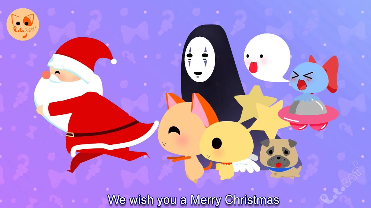 We Wish You A Merry Christmas - Christmas Songs Xmas Songs English Subtitle - Lala Cat Official ...