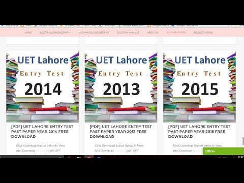 How to Download UET lahore Past Ecat Papers | Uet Entry Test