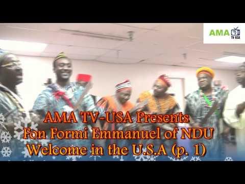 Fon Formi Emmanuel for NDU - Cameroon welcome event, USA