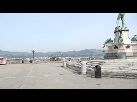 Firenze, strade vuote e silenzio nel primo giorno da