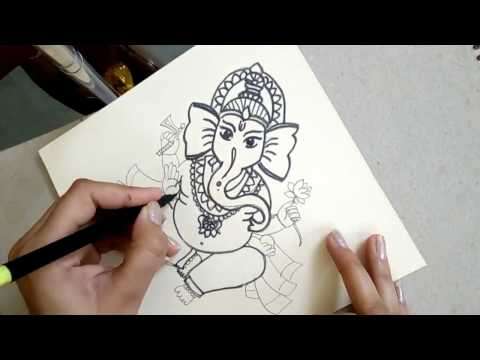 How To Draw Ganesha EASY || Ganpati Bappa Moriya Easy DRAWING