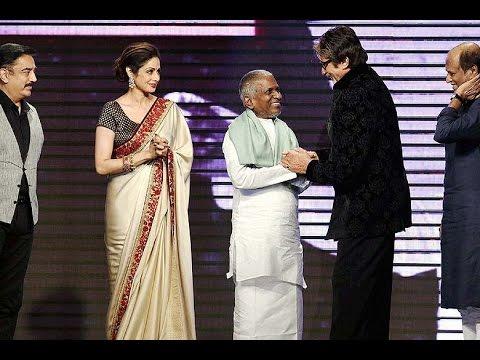 Sridevi, Rajinikanth,Kamal Hasan Attends The Music Launch Of 'Shamitabh'