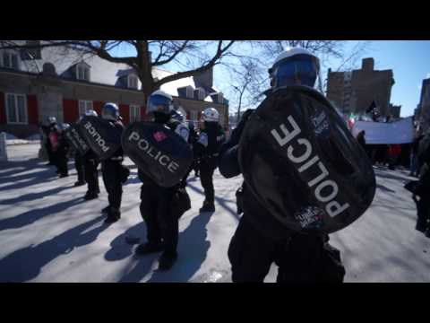 La Meute Protest Against M103 Outside Montreal City Hall Saturday March 4 2017 00005