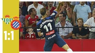 FC Sevilla - Espanyol Barcelona 1:1 / Banega fliegt nach Schiri Beleidigung
