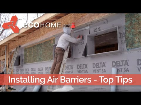 Ecohome building guide: installing air barriers