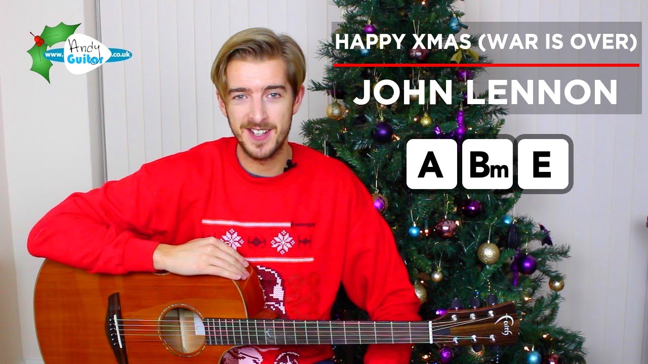 Happy Xmas (War Is Over) Guitar Lesson CHORDS - John Lennon - YouTube