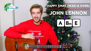 Happy Xmas (War Is Over) Guitar Lesson CHORDS - John Lennon