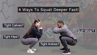How To ATG SQUAT FAST With Good Form!! (4 Ankle & Hip Mobility Drills for Leg Day)