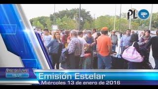 Sindicalistas toman aeropuerto La Aurora