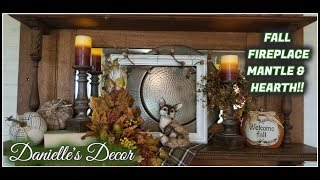 Fall Fireplace Mantle & Hearth!