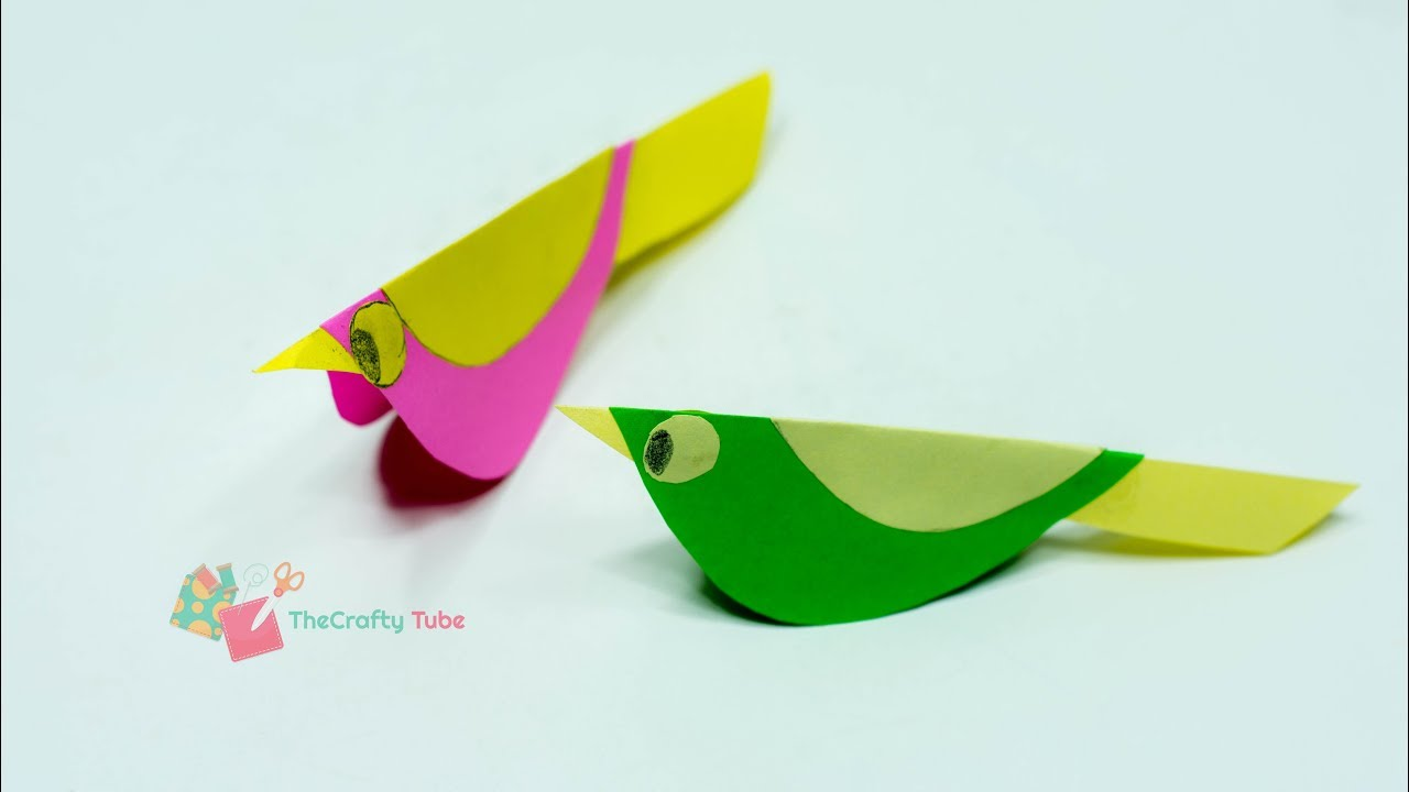 paper crafts for kids how to make paper bird very easy diy