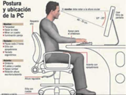 Ergonomia una mejor forma de usar la computadora youtube for Medidas ergonomicas de un escritorio