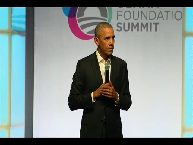 Former Pres. Obama remarks during opening session of his foundation's summit in Chicago