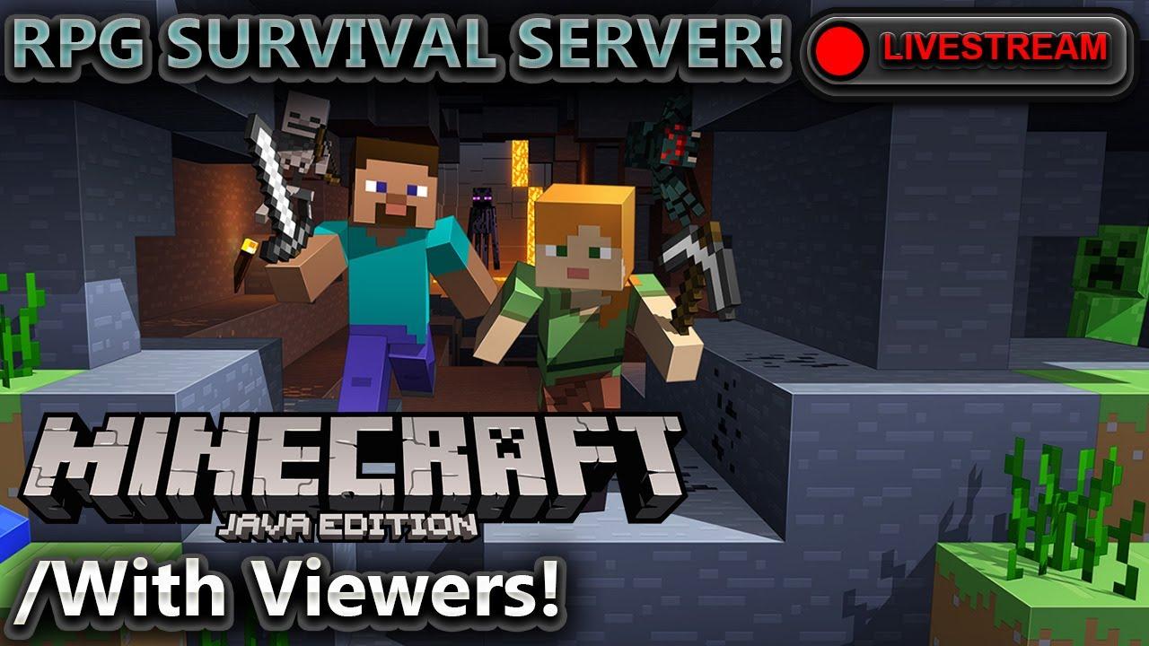🔴 RPG SURVIVAL PUBLIC SERVER Minecraft: Java Edition YouTube
