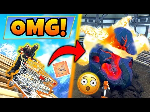 Fortnite Gameplay: BREAKING THE METEOR with SHOPPING CARTS! – Funny Glitch! (Battle Royale Update)