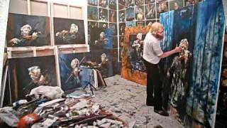Håkon Gullvåg paints Arve Tellefsen
