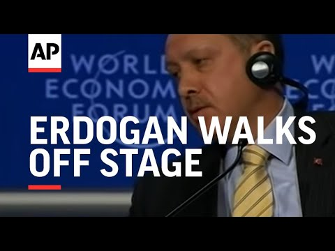 Turkish PM Erdogan walks off stage in clash over Gaza