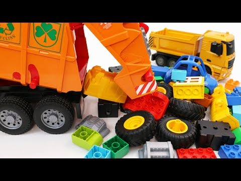 Learn Vehicles with Garbage Truck, Construction Trucks and Toy Cars for Kids