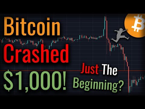 Bitcoin Crashed $1000!! - Is A Bitcoin Crash Just Getting Started?