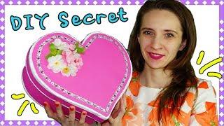 Easy DIY crafts | How to make gift box heart | Secret box making