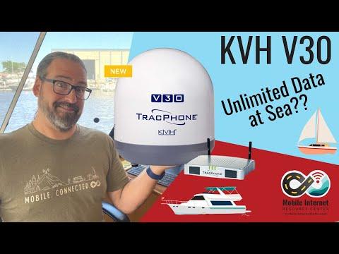 KVH V30 - Affordable Unlimited Internet At Sea? New Mobile Satellite Internet Option