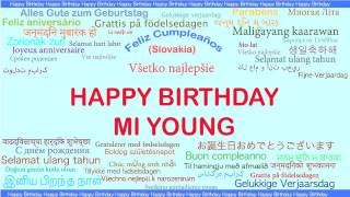 Mi Young   Languages Idiomas - Happy Birthday