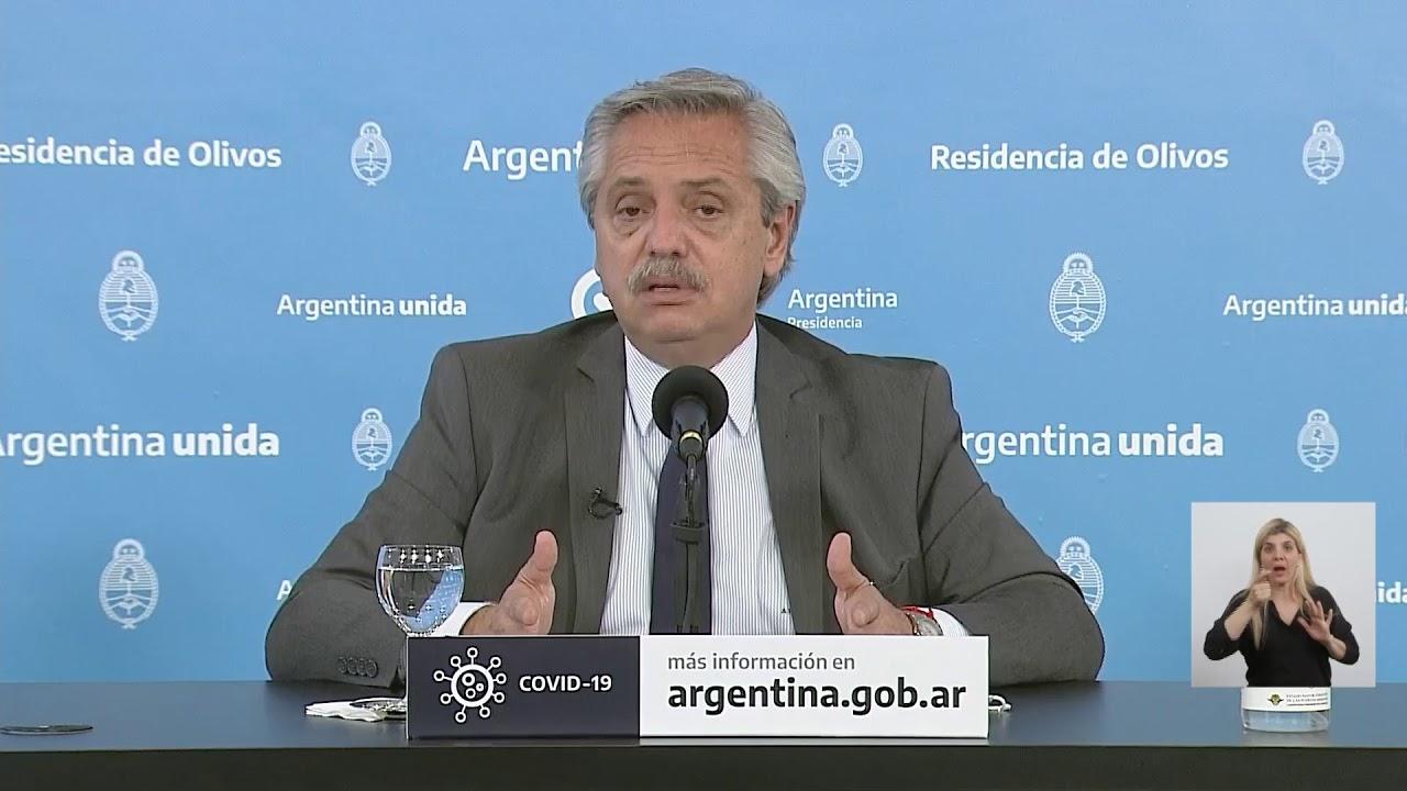 Coronavirus Covid-19 - Anuncio del presidente Alberto Fernández