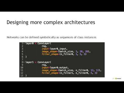 NVIDIA Deep Learning Course: Class #4 - Getting started with Theano