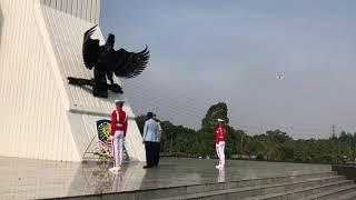Kakanwil DKI Jakarta Menghadiri Upacara Tabur Bunga Dalam Rangkaian Bakti Pemasyarakatan Ke 55