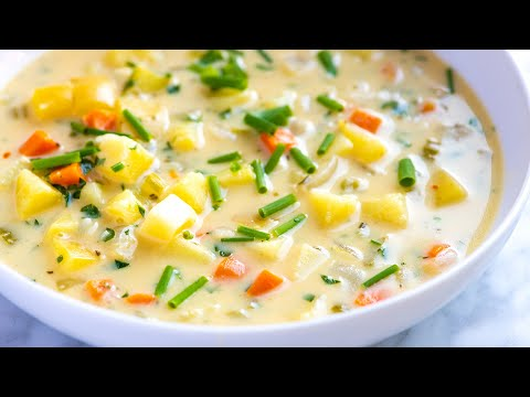 Easy Creamy Homemade Potato Soup How to Make Creamy Potato Soup From Scratch
