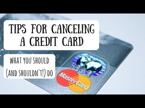 Canceling Credit Card