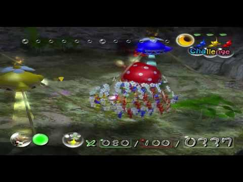 Pikmin Hack - Night time in Challenge Forest of Hope