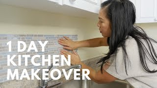 EASY 1 DAY KITCHEN MAKEOVER! | Done Simply with Smart Tiles