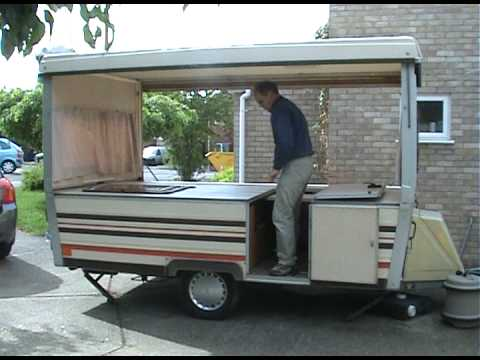 Folding Caravan Not Trailer Tent Youtube