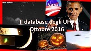 Il database degli UFO - Ottobre 2016