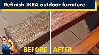 Ikea Outdoor Furniture, How To Refinish
