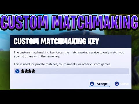 fortnite key matchmaking servers