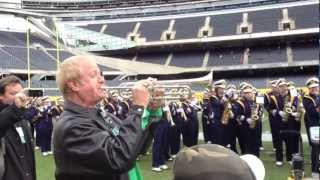 Chicago at Notre Dame  -Marching Band rehearsal