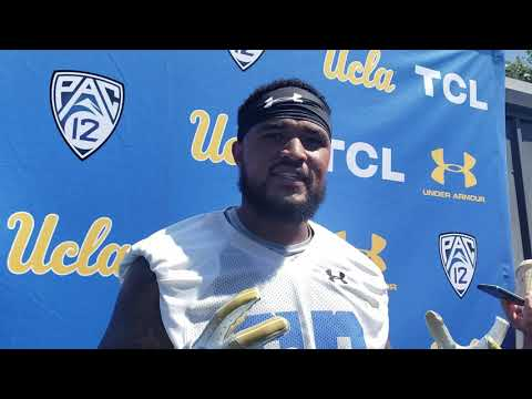 Video: UCLA's Lokeni Toailoa makes new vocabulary with brother Leni