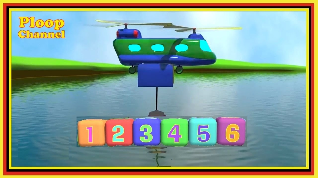 flying numbers compilation cartoons for kids airplanes for