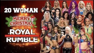 A 20 Woman Christmas Royal Rumble | WWE2K18 PS4