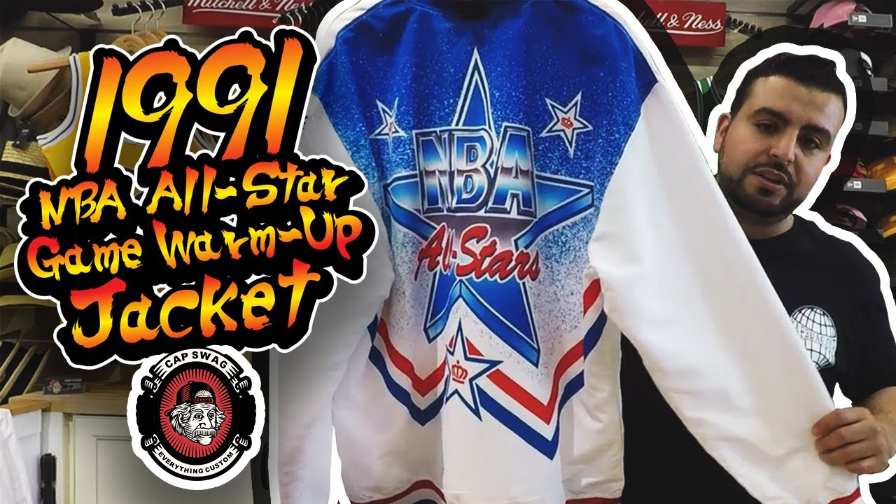 Mitchell   Ness 1991 NBA All-Star Game Warm up Jacket - YouTube 85067d358