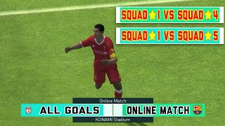 Pes 2018 Mobile   Online Match - All the goals of the One-star Squad