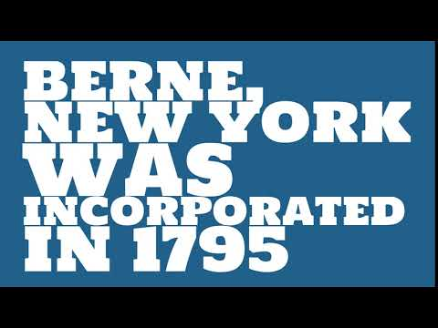 When was Berne, New York founded?