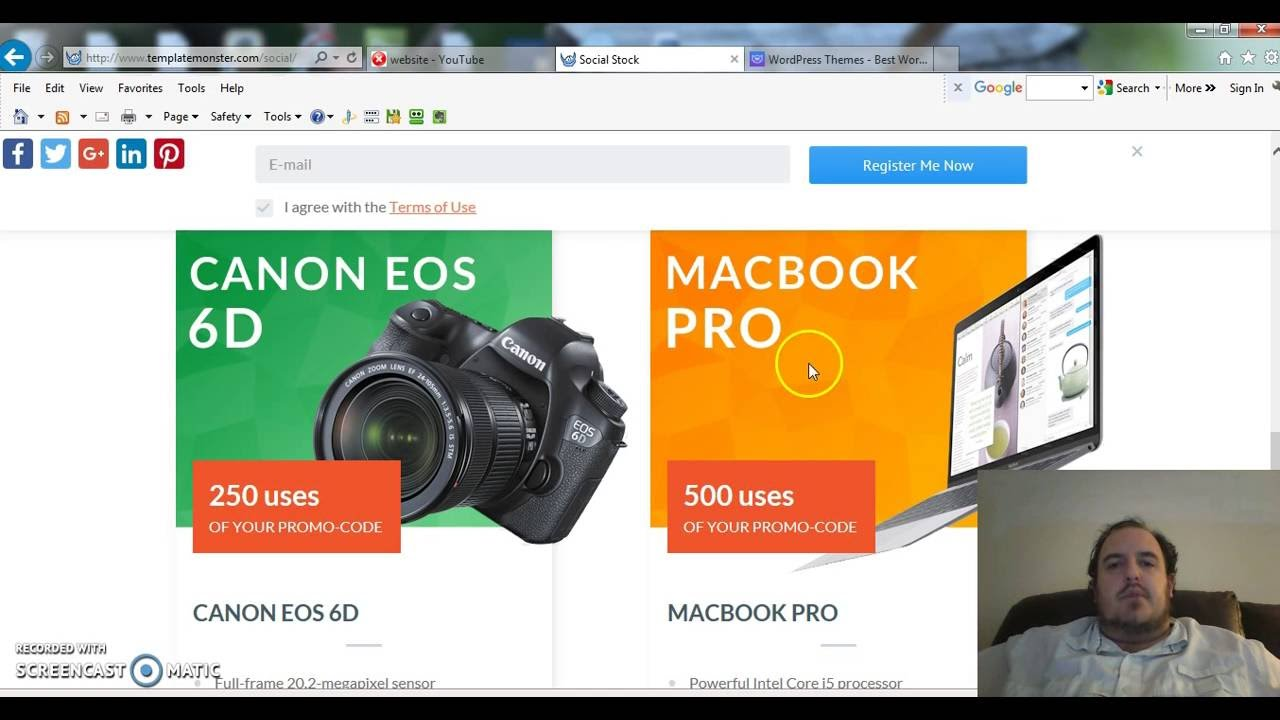 WordPress Themes Website Templates from TemplateMonster.com Social ...