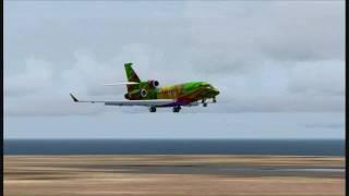 DASSAULT FALCON 7X LANDING AT LA GOMERA AIRPORT SPAIN FS2004