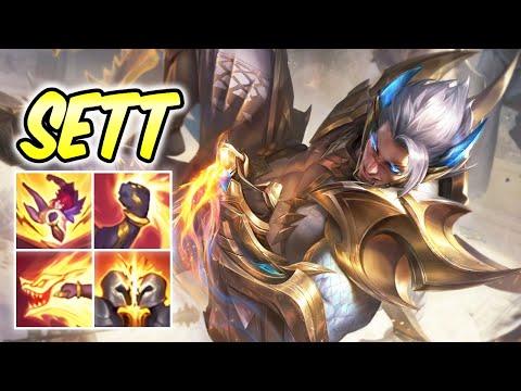 PRESTIGE EDITION OBSIDIAN DRAGON SETT NEW SKIN | Build & Runes | Sett Top Gameplay League of Legends