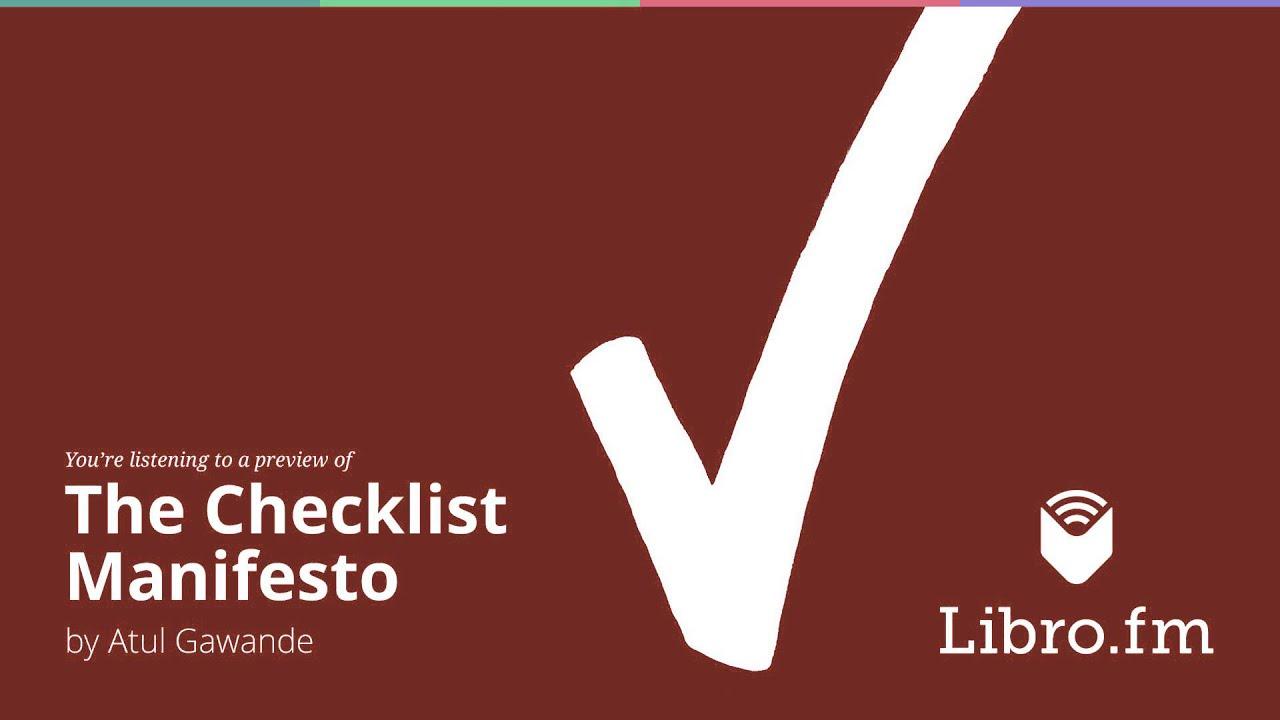 The Checklist Manifesto by Atul Gawande - YouTube