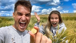 Found a Golden Coin in the countryside. Surprise for Nastya on her Birthday. Perelman's Restaurants